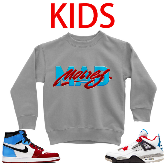 Mad Money UNC To Chi (Gray) Classic Kids Sweatshirt - Lone Space Ranger