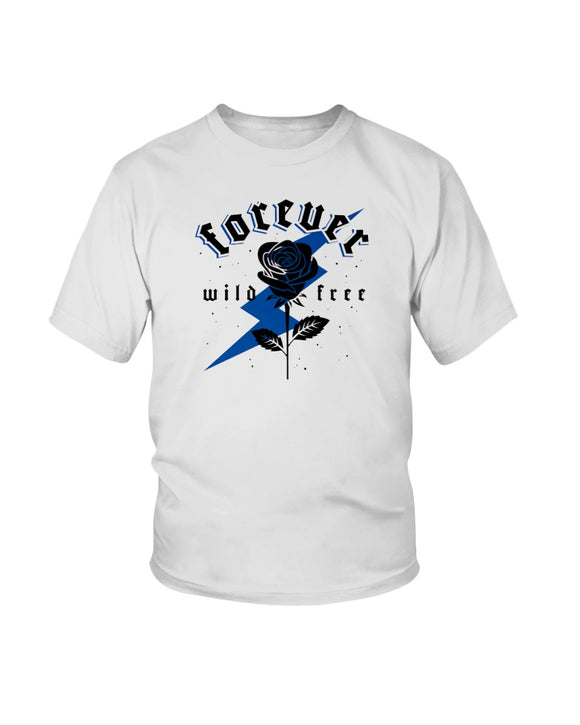 Kid's Forever Wild Free Retro 12 Royal - Lone Space Ranger