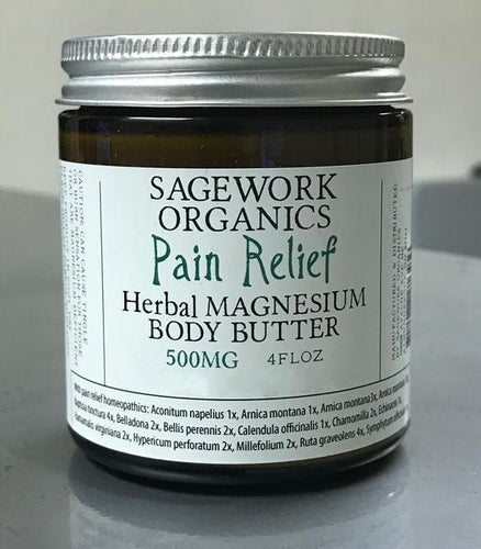 8oz Herbal Magnesium Body Butter 750mg 6 count