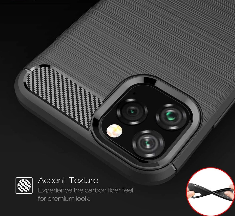 Carbon  Case For iPhone 11 XI 2019 5.8 inch