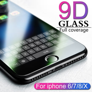 9D protective glass for iPhone 6 6S 7 8 plus X, 7, 6, 8, X,  XS