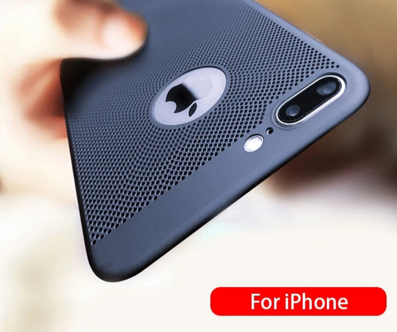 Ultra Slim Phone Case For iPhone Hollow Heat Dissipation