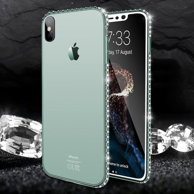 Fashion Diamond Transparent Phone Case For iPhone