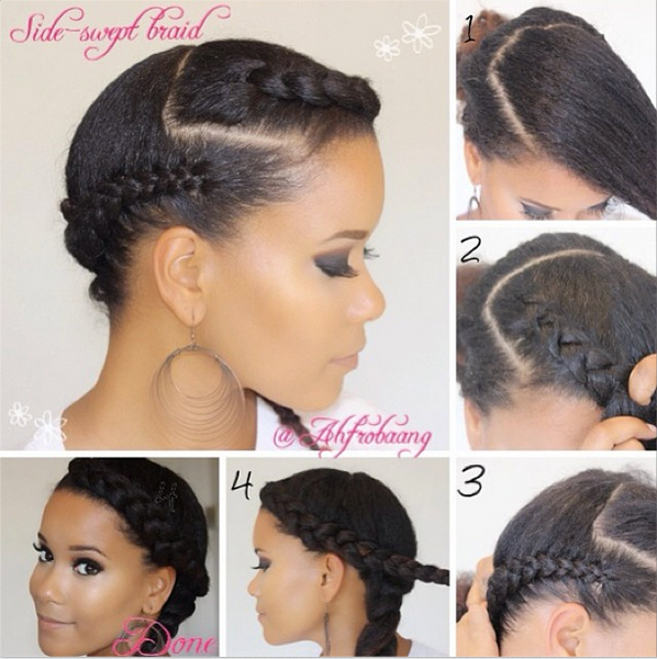 Natural hair pictorial from @ahfrobaang on Instagram