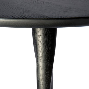 Oak Torsion black dining table