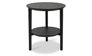 Oak Bok black side table