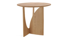 Oak Geometric side table