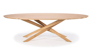 Oak Mikado oval coffee table