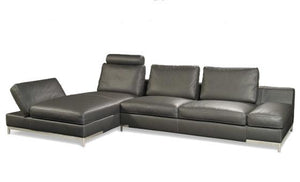relax in style in the dese leather sectional from attica