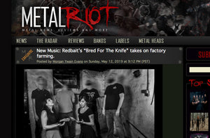 "Metal Riot Drops ""Bred For The Knife"" from Redbait"