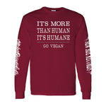 Safe and Sound Go Vegan Long Sleeve Shirt