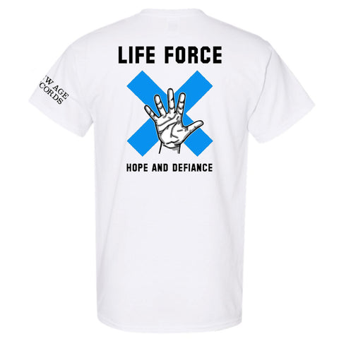 "Life Force ""Hope and Defiance"" T-Shirt and Vinyl Bundle (PRE-ORDER)"