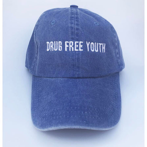 Drug Free Youth Dad Hat - Blue