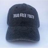 Drug Free Youth Dad Hat - Gray