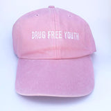 Drug Free Youth Dad Hat - Pink