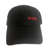 Go Vegan Dad Hat - Black