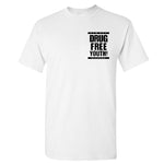 New Age Records Drug Free Youth Shirt White