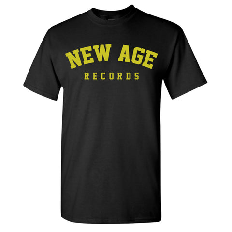 New Age Records Goes to College Black T-Shirt