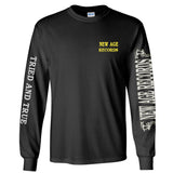 """Proud To Be Poison Free"" New Age Straight Edge Long Sleeve Tee Black"