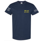 """Proud To Be Poison Free"" New Age Straight Edge Navy Tee"