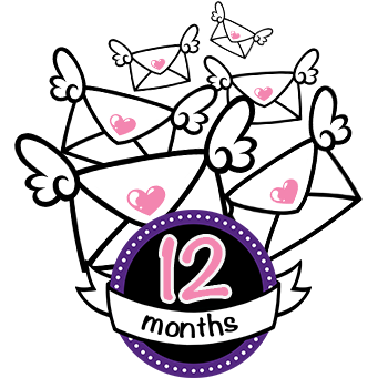 One Year (12 Month) Subscription to Sticky Ink - Basic Pack