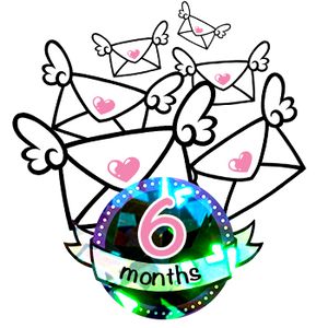 6 Month Sparkle Magic Subscription - 12 Stickers