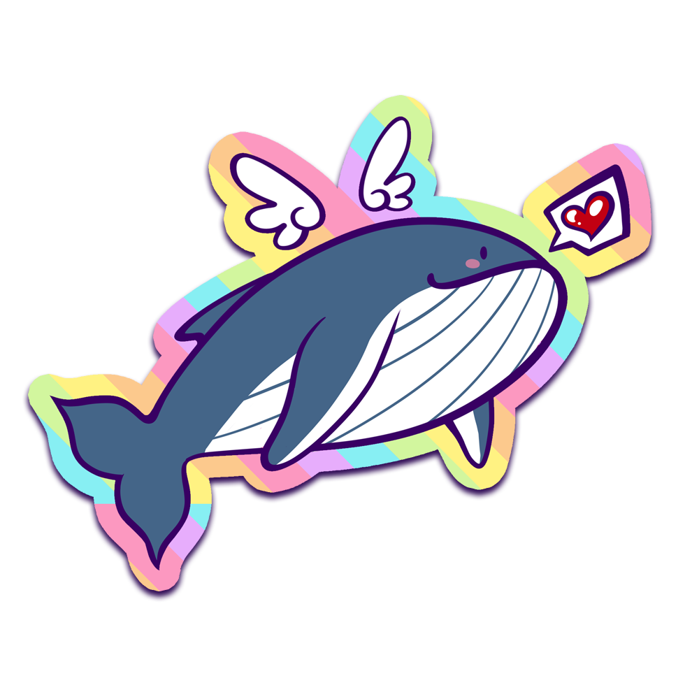 Happy Whale - Sparkle Sticker