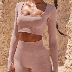 Evelyn Seamless Scooped Neck Set