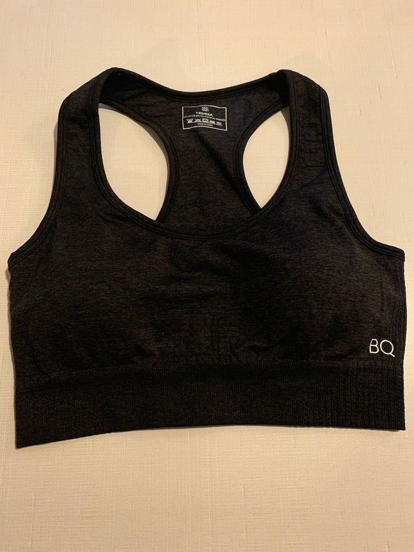 Zara Gunmetal Seamless Sports Bra