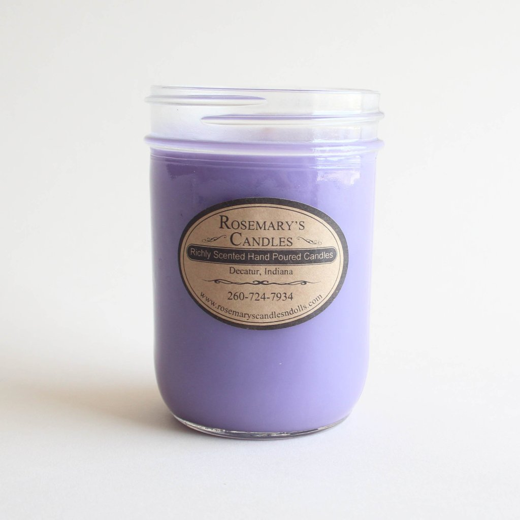 Lilac Flower Mason Jar Candle