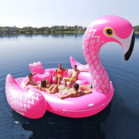 Ginormous Flamingo Inflatable Boat