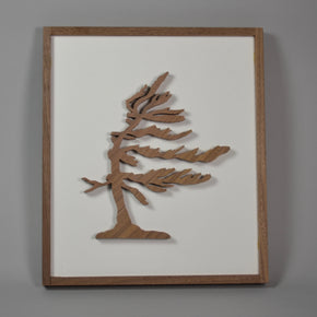 Wood Group of Seven minimalist framed art