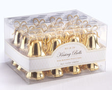 Gold Kissing Bells Place Card Holder
