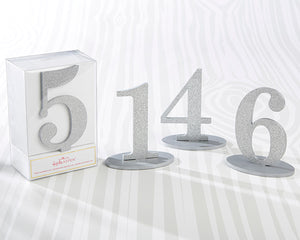 Silver Glitter Table Numbers (1-6)