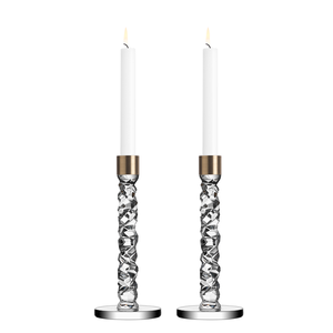 Carat Candlestick Brass, Medium