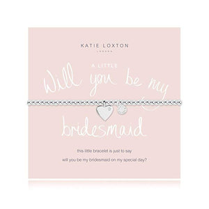 Will You Be My Bridesmaid, Silver Bracelet