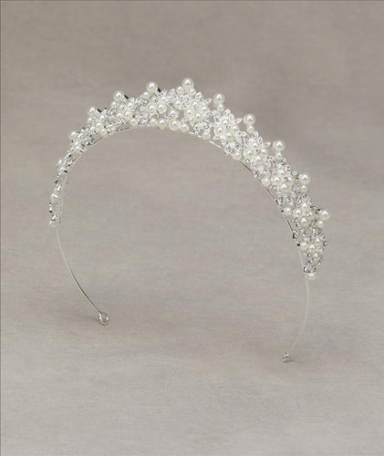 Arlete Tiara with Pearl Detail