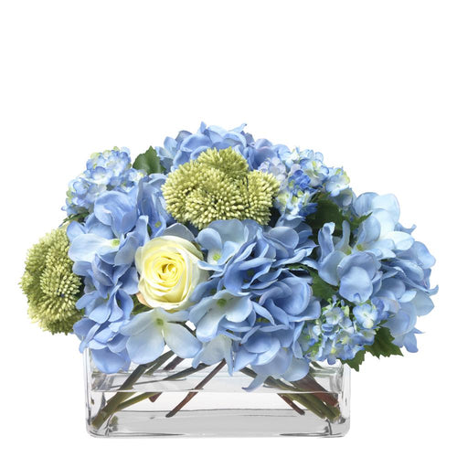Mixed blue and cream bouquet