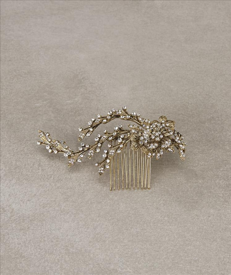 Melisa Antique Gold Comb, Small