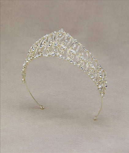Suniva Gold Tiara with Crystal