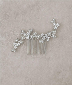 Antique Silver Haircomb with Floral Detail