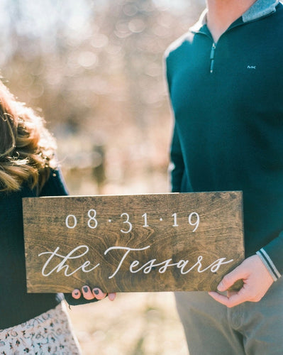 Customized Engagement/Wedding Wood Sign