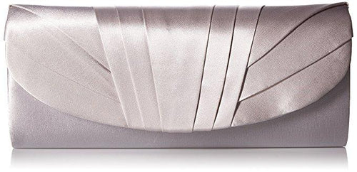 Angel Satin Clutch, Silver