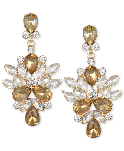 Marquis & Pear Drop Champagne Earring