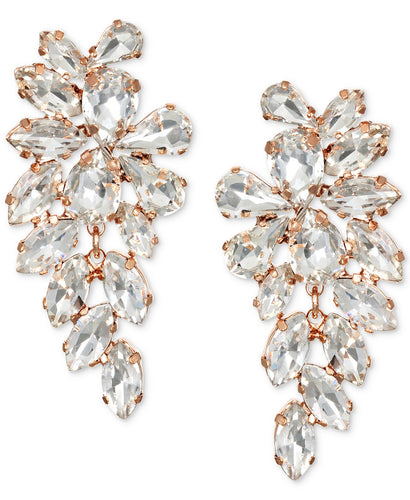 Rose Crystal Arch Earring