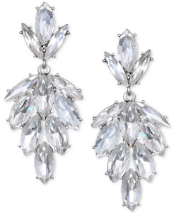 Silver Marquis Crystal Drop Earring