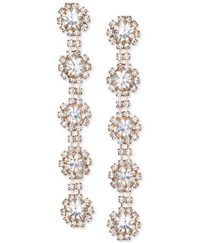 Rose Round Crystal Linear Earring