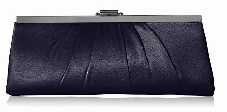 Blaire Framed Clutch, Navy