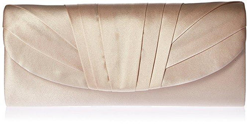 Angel Satin Clutch, Champagne