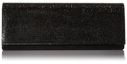 Jennifer Beaded Clutch, Black